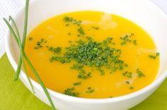 Kochen mit Fructoseintoleranz: Den Schnittlauch lieber weg lassen! Cremige Kartoffel-Karotten-Suppe laktosefrei fructosefrei vegan