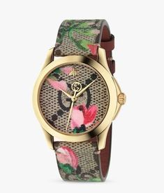 Gucci Floral, Gucci Watches For Men, Luxury Watches, Ladies Watches, Fashion Watches, Cartier, Burberry, Gucci Gucci, Gucci Bags