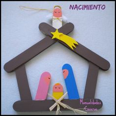Ideas que mejoran tu vida Popsicle Stick Christmas Crafts, Popsicle Crafts, Christmas Crafts For Kids, Diy Christmas Ornaments, Craft Stick Crafts, Kids Christmas, Holiday Crafts, Christmas Decorations, Kids Crafts