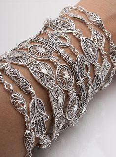 Diamond, Bracelets, Silver, Jewelry, Fashion, Moda, Jewlery, Jewerly, Fashion Styles