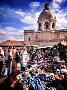 """Thieves market"" - Feira da ladra, Lisbon, Portugal. On Tuesday's & Saturday's in Alfama on way down from São Jorge"