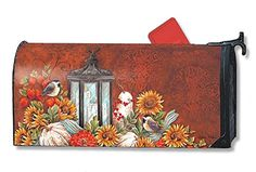 Mailbox Covers  Magnetic Mailwrap Fall Lantern Large Mailbox Cover Porch Décor <3 This is an Amazon Associate's Pin. Find out more on the website by clicking the VISIT button.