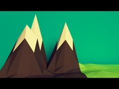 Blender Tutorial: Low Poly Mountains