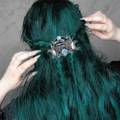 @deathlyberry stuns with Cerulean Sea locks - Try mixing Magic Oracle with Cerulean Sea for an extra dark teal #lunartides #tealhair #ceruleansea Teal Hair Dye, Dark Teal Hair, Dyed Hair, Moon Goddess, Cerulean, Hair Styles, Beauty, Dark Hair, Hair Plait Styles