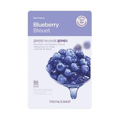 [THE FACE SHOP] Real Nature-Blueberry (5PCS)