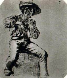 George Caleb Bingham - Study of a Flatboatman