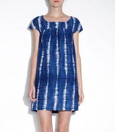 indigo dress from apc
