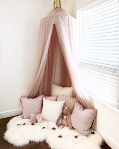 Here's a look in one of my favorite corners of our home! This is my daughters reading nook. Follow me on Instagram @ginabourne for more inspo! More photos of our home to come!