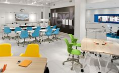 See computer lab toward back of photo. Steelcase Neocon