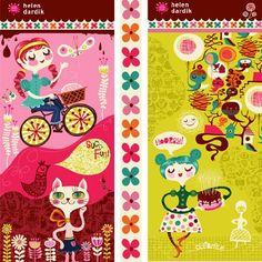 orangeyoulucky @ surtex (banners) Magazine Illustration, Children's Book Illustration, Helen Dardik, Trade Show Booth Design, Unique Toys, Postcard Art, Badge Design, Stationery, Kids Rugs