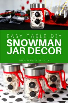 If you're looking for a fun and easy idea for your holiday table this snowman jar craft is inexpensive and adorable! If you're looking for a fun and easy idea for your holiday table this snowman jar craft is inexpensive and adorable! Unique Gifts For Girls, Gifts For Boys, Fun Gifts, Christmas On A Budget, Christmas Recipes, Christmas Ideas, Christmas Activities, Merry Christmas, Christmas Ornaments