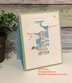 Jill's Card Creations: The Easter bunny is early! Fun Stampers Journey creature comforts