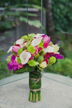 A lush bouquet for Hawaiian nuptials. Small Wedding Bouquets, Wedding Flower Arrangements, Wedding Flowers, Bridal Bouquets, Floral Arrangements, Moon Wedding, Hawaii Wedding, Dream Wedding, Wedding Stuff