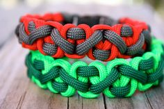 Cool paracord survival bracelet called The Czech by Top Knotch Gear on Etsy. Unravel in an emergency and use the cord for repairs, shelter, trapping, and hundreds of other uses. #paracord #survival