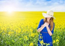 Woman In Canola Field - Download From Over 59 Million High Quality Stock Photos, Images, Vectors. Sign up for FREE today. Image: 50907115
