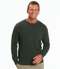 Cashmere Sweater, Crewneck Cable Knit: Crewnecks | Free Shipping at L.L.Bean