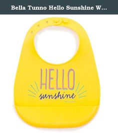 Bella Tunno Hello Sunshine Wonder Bib, Yellow. The Bella Tunno Wonder Bib is our kid safe, waterproof, mess ready, silicone bib. The Wonder Bib folds easily for travel and has a deep pocket to catch spills. Not only is the bib adjustable and comfortable for baby, but it is also easy to clean and dishwasher safe for Mom. The Wonder Bib is PVC free and BPA free. Through our B1G Initiative, Bella Tunno donates 1 meal to 1 hungry American for every product sold.