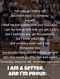 This be the truth volleyball setter, volleyball jokes, volleyball motivatio Volleyball Motivation, Volleyball Jokes, Volleyball Setter, Volleyball Workouts, Volleyball Pictures, Sport Motivation, Softball Pictures, Cheer Pictures, Volleyball Training