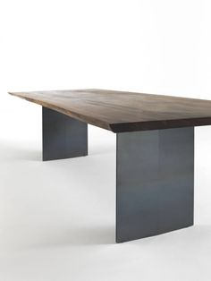 Riva 1920, made in Italy: Sky-Natura natural sides table, project by C.R. & S. Riva., solid walnut top.