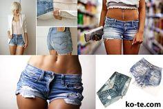Как сделать крутые джинсы из старых с фото