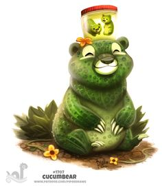 ArtStation - Daily Painting 1707# Cucumbear, Piper Thibodeau