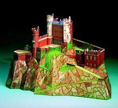 Maquetas de castillos para montar con recortables Castillo Bodiam, Medieval, Neuschwanstein Castle, Zaragoza, Palaces, Castles, Majorca, Mid Century, Middle Ages
