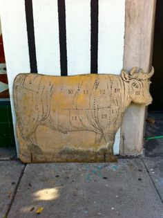 awesome vintage wooden cow wall decor  price: $235