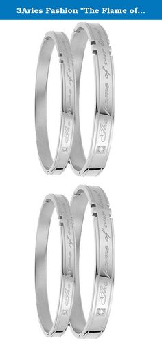 """3Aries Fashion """"The Flame of Our Love"""" Shining Cz Rhinestone Silver Titanium Stainless Steel Men Bangle Engagement Bracelets. Product Features: Brand name:3Aries Condition: 100% Brand new Quantity: 1PCS Note:the unit price we quoted for one piece rather than one pair packaging: OPP bag inside,and giving a beautiful Silk bag as a gift. More Details: as the pictures show Why choose Stainless Steel Jewellery? Stainless Steel Jewellery does not tarnish and oxidize, which can last longer than..."""