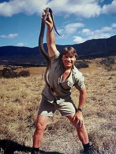 Steve Irwin - loved watching this guy!  So lovable