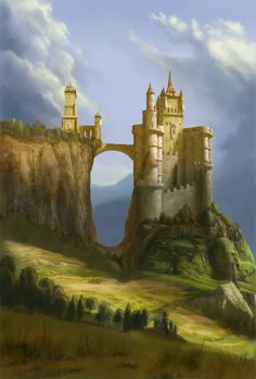 castle on the hills by digital-fantasy on deviantART