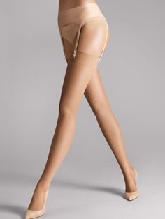 """A luxurious stocking with special features: mat and transparent look, soft and airy to the touch, sexy and seductive feel. An """"essential"""" for that special outfit.       Exclusive feel with an extraordinarily even look    A subtle band that does not cut in and matches all designs of lace lingerie    Excellent stretch and a perfect fit, thanks to the use of double-wrapped elastane in each row    Barely visible shadow toe reinforcement"""