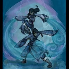 Day 11 : Least Fav Character. For LOK is dena and eska, i like they both, they are awesome waterbender. . . . . . #avatarfebruarychallenge #avatarthelegendofkorra #avatarthelastairbender #avatarthelegendofaang #thelegendofaang #legendofkorra #aang #korra #desnaandeska #desnaeska #desna #eska #lok #atla