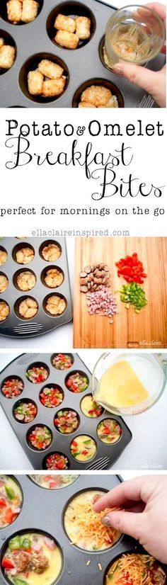 Potato & Omelet Breakfast Bites