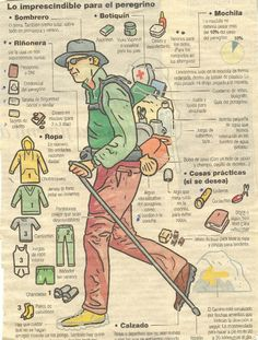 Lo esencial para un peregrino - Load Tutorial and Ideas Camping Survival, Outdoor Survival, Survival Skills, Hiking Tips, Hiking Gear, St Jacques, Pilgrimage, Bushcraft, Backpacking