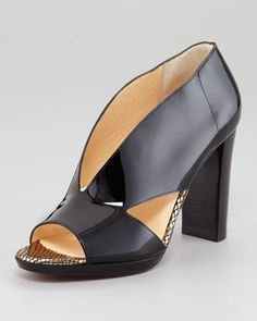 Patent Leather Cutout Sandal by Christian Louboutin at Neiman Marcus.