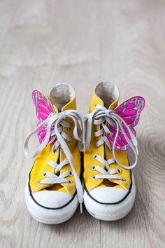 #Yellow | Winged feet. #Converse