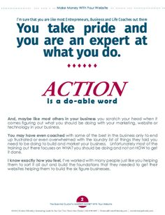 Action is a do able word