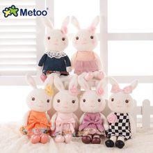 Officail Metoo Tiramisu conejos conejito lindo animales de peluche muñecas flor de Rose prefecto regalos para las muchachas(China (Mainland))