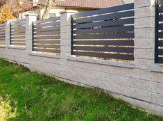 XCEL | Gotowe elementy betonowe na ogrodzenie - Xcel Gate Wall Design, Backyard Fences, Gate Ideas, Wood, Modern, Homes, Madeira, Houses, Woodwind Instrument