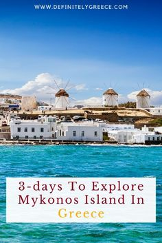 A trip to the Greek islands is on the bucket list of many! However, out of the 6,000 islands scattered in the Aegean and Ionian Sea, a few have a name and reputation that needs no introduction! Click through to make the most out of your trip to Mykonos.   #DefinitelyGreece #MykonosGuide #GreeceHolidays Mykonos Island, Crete Greece, Santorini Greece, Athens Greece, Amazing Destinations, Holiday Destinations, Travel Destinations, Greece Holiday, Greek Isles