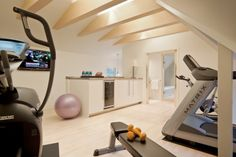 Workout room -- like the water cooler in the room