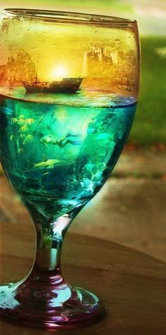 art in a glass...look closely...very cool.