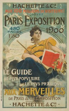 Items similar to Vintage Paris Exhibition Poster France Francois Flemming Edwardian Advertisement Lithograph To Frame on Etsy Vintage French Posters, Vintage Travel Posters, French Vintage, Poster S, Poster Prints, Art Prints, Old Posters, Paris 1900, Art Nouveau Poster