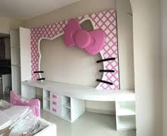Girl Room, Girls Bedroom, Bedroom Decor, Sala Set, Hello Kitty Bedroom, Wood Toys, Dream Rooms, Kids Furniture, Wall Decals
