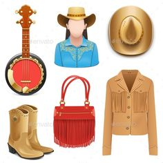 Vector Cowboy Female Accessories