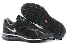 Womens Nike Air Max 2012 Black White Shoes