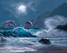 Dolphin Kingdom via MuralsYourWay.com