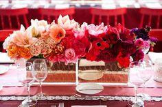 Ombre floral centerpiece