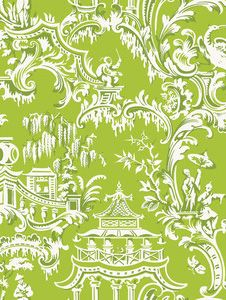 Anna Griffin - Chinoiserie - Temple in Green