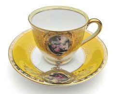 Vintage Porcelain Demitasse Tea Cup & Saucer Japan Tea Cup